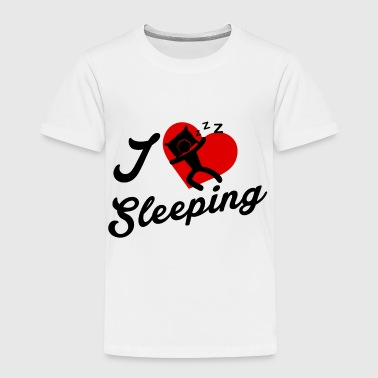 I Love Sleeping / Ich schlafe gern. - Toddler Premium T-Shirt