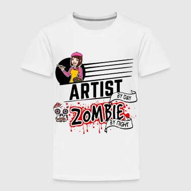 Female Artist - Zombie by night - Toddler Premium T-Shirt