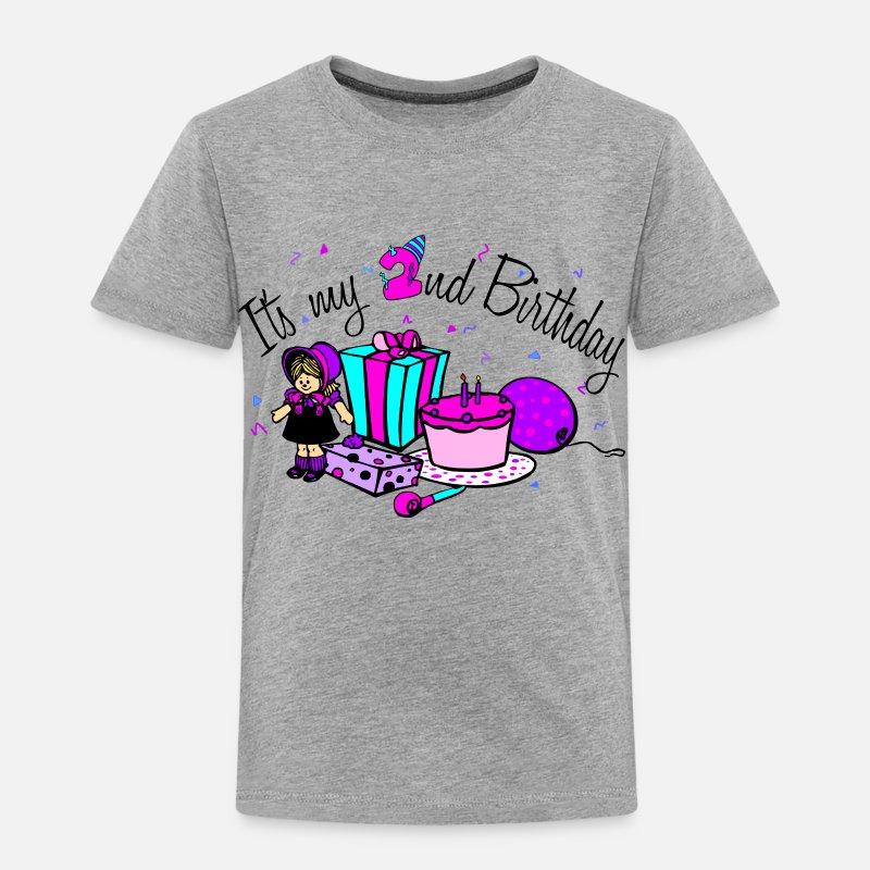 Its My 2nd Birthday Girl Toddler Premium T Shirt