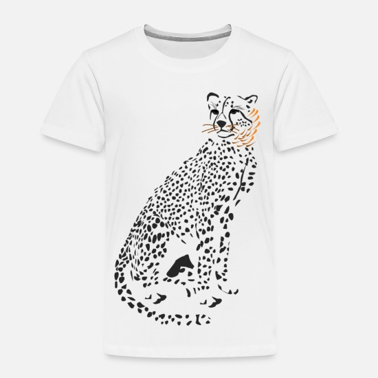 Cheetah Baby Clothing - Cheetah - Toddler Premium T-Shirt white