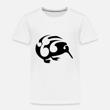 Aotearoa Black and White Koru Kiwi - Toddler Premium T-Shirt