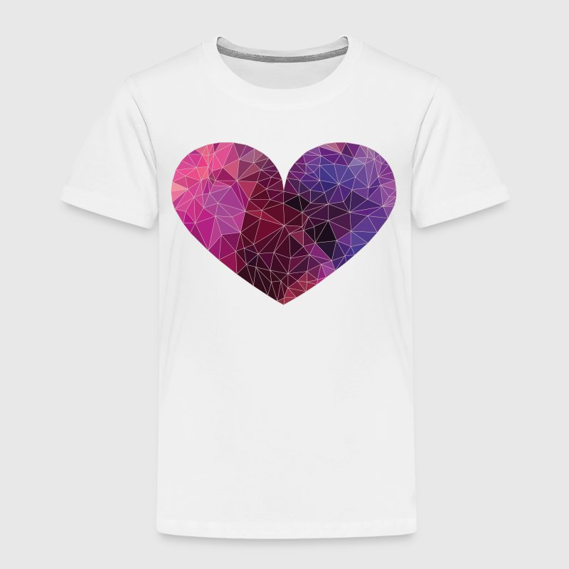 Polygon Heart Strokes - Toddler Premium T-Shirt