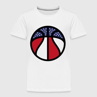 US Flag B-Ball - Toddler Premium T-Shirt