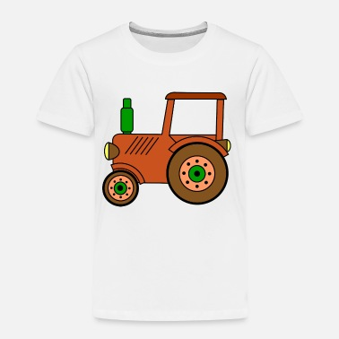 Toy brown toy tractor / toy tractor - Toddler Premium T-Shirt
