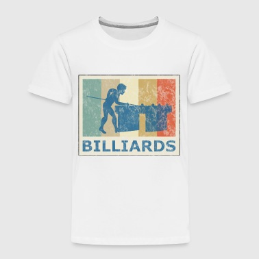 Retro Vintage Style Pool Billiard Player Snooker - Toddler Premium T-Shirt