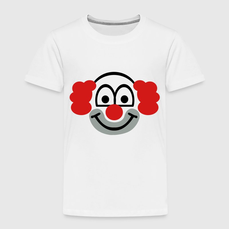 Clown face - Toddler Premium T-Shirt