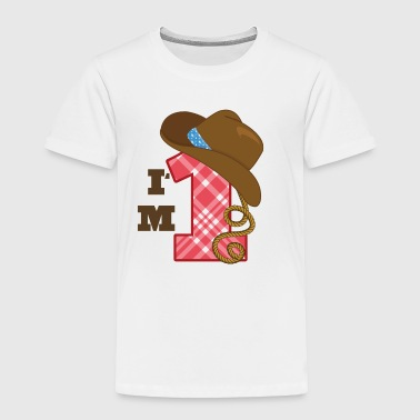 Im One Birthday 1st Birthday Cowboy Im 1 - Toddler Premium T-Shirt