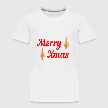 Poinsettia Merry Christmas Christmastree Gingerbread - Toddler Premium T-Shirt