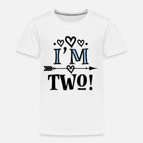 Toddler Premium T Shirt2nd Birthday Girls 2 Year Old
