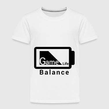 Batteries game life Balance Battery Design black - Toddler Premium T-Shirt