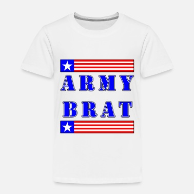 Brat Army Brat - Blue Text - Toddler Premium T-Shirt