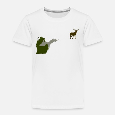 Hunting Funny Michigan Yooper Hunting Parody Deer T-Shirt  - Toddler Premium T-Shirt
