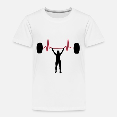 Weightlifting Weightlifting Woman & Heartbeat - Weightlifter - Toddler Premium T-Shirt