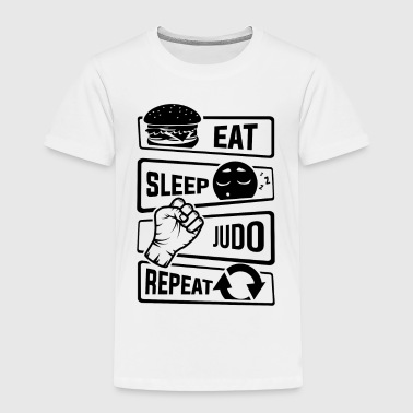Eat Sleep Judo Repeat - Martial Arts Defence - Toddler Premium T-Shirt