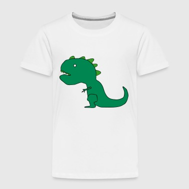T-Rex Dinosaur Cartoon Drawing - Toddler Premium T-Shirt