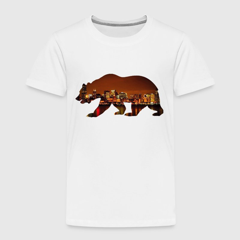 Windy City Bear Skyline - Toddler Premium T-Shirt