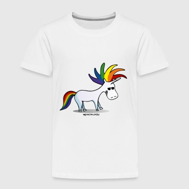 Punk unicorn - unicorn and rainbow - Toddler Premium T-Shirt
