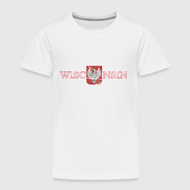 Funny Wisconsin Wisconsin Poland Polish Flag - Toddler Premium T-Shirt