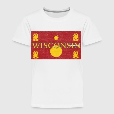 Hmong & Wisconsin Hmong Flag - Toddler Premium T-Shirt