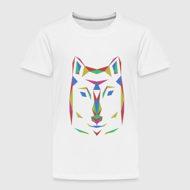 Dog's wolf colorful outlines animal gift - Toddler Premium T-Shirt