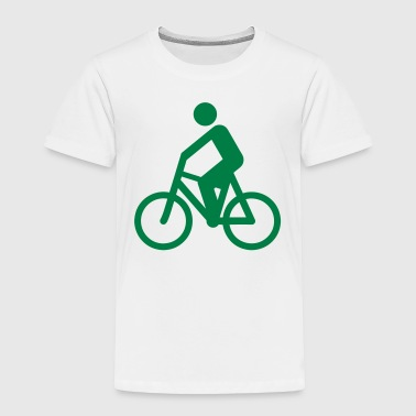 Glowing Cycling Cyclist Silhouette - Toddler Premium T-Shirt