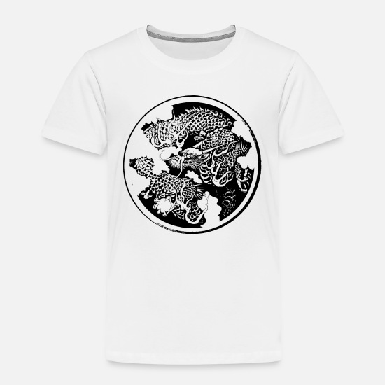 Buddhism Baby Clothing - Japan traditional dragon - Toddler Premium T-Shirt white