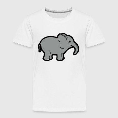 Cartoon-kids-babies-baby-body Baby Cartoon Elephant - Toddler Premium T-Shirt
