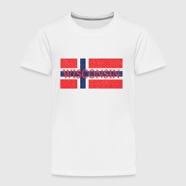 Norwegian Apparel Wisconsin Norwegian Flag - Toddler Premium T-Shirt