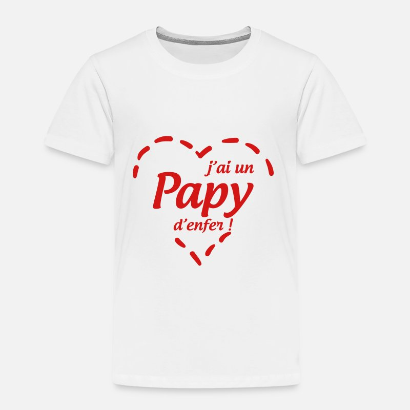 Baby Baby Clothing - Grandfather Grandpa Family Papi Papy Abuelo - Toddler Premium T-Shirt white