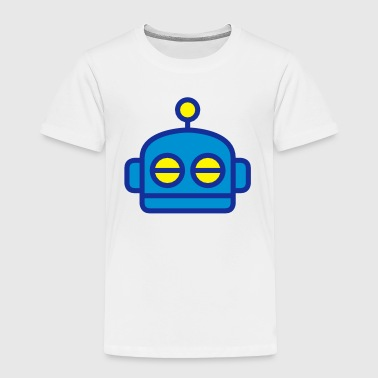 Cartoon-kids-babies-baby-body Cute Cartoon Robot Head - Toddler Premium T-Shirt