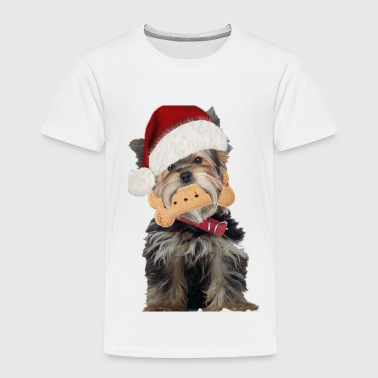 Yorkie Dog Has Christmas Spirit - Toddler Premium T-Shirt