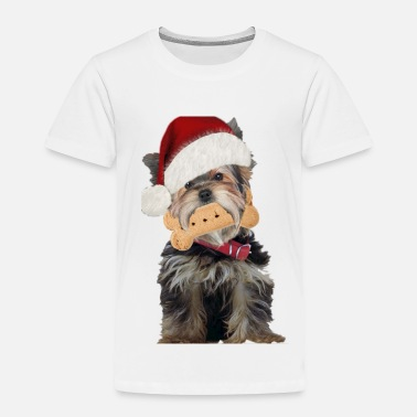 Christmas Yorkie Dog Has Christmas Spirit - Toddler Premium T-Shirt