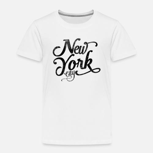 9908a941e04 New York City vintage typography - black Toddler Premium T-Shirt ...