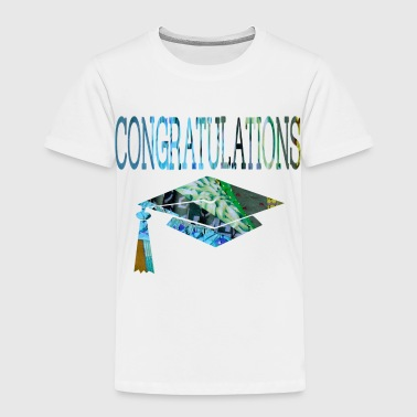 2018 wordtease CONGRATULATIONS GRADUATE bluz - Toddler Premium T-Shirt