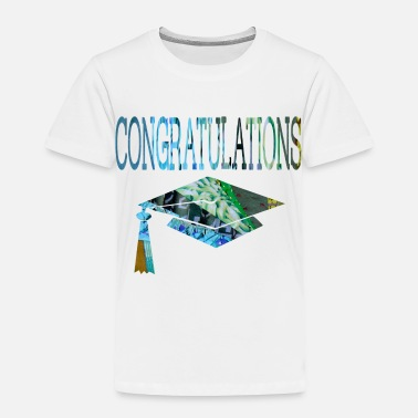 Graduation wordtease CONGRATULATIONS GRADUATE bluz - Toddler Premium T-Shirt