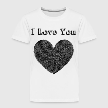 Wedding Day Illustration Love with heart - Toddler Premium T-Shirt
