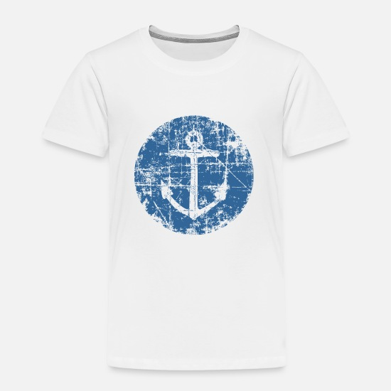 Anchor Baby Clothing - Anchor Sign Sailing Design for Sailors - Toddler Premium T-Shirt white