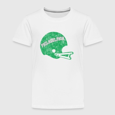 Vintage Throwback Philadelphia Football Helmet - Toddler Premium T-Shirt