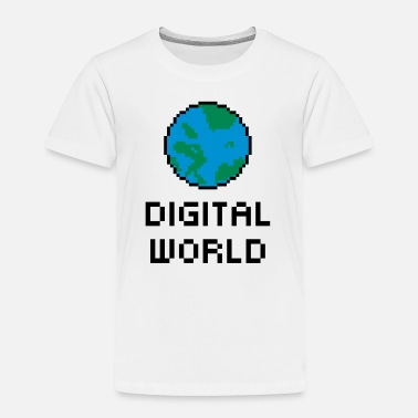 Kids Digit Digital World - Toddler Premium T-Shirt