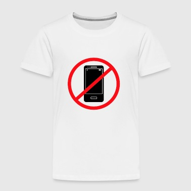 Vector no mobile phones sign - Toddler Premium T-Shirt