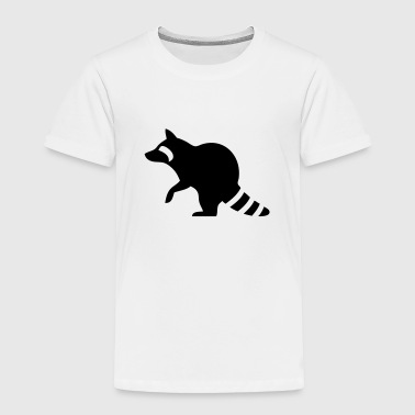 Raccoon Silhouette - Toddler Premium T-Shirt