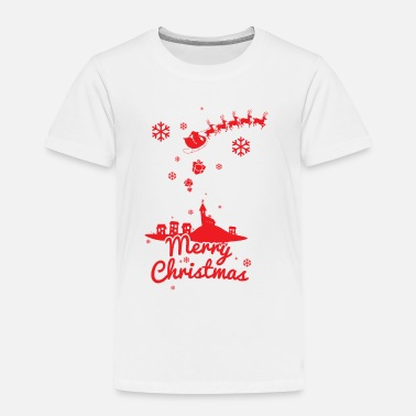 Christmas Village Merry christmas, a scene of a small village - Toddler Premium T-Shirt