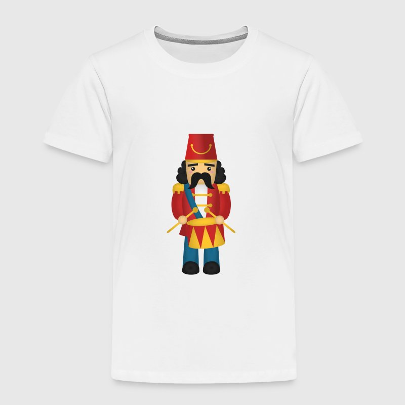 cute nutcracker like soldier with drums - Toddler Premium T-Shirt