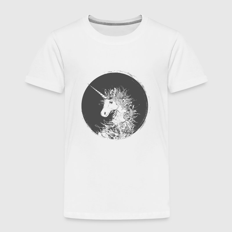 Head of a unicorn - Toddler Premium T-Shirt