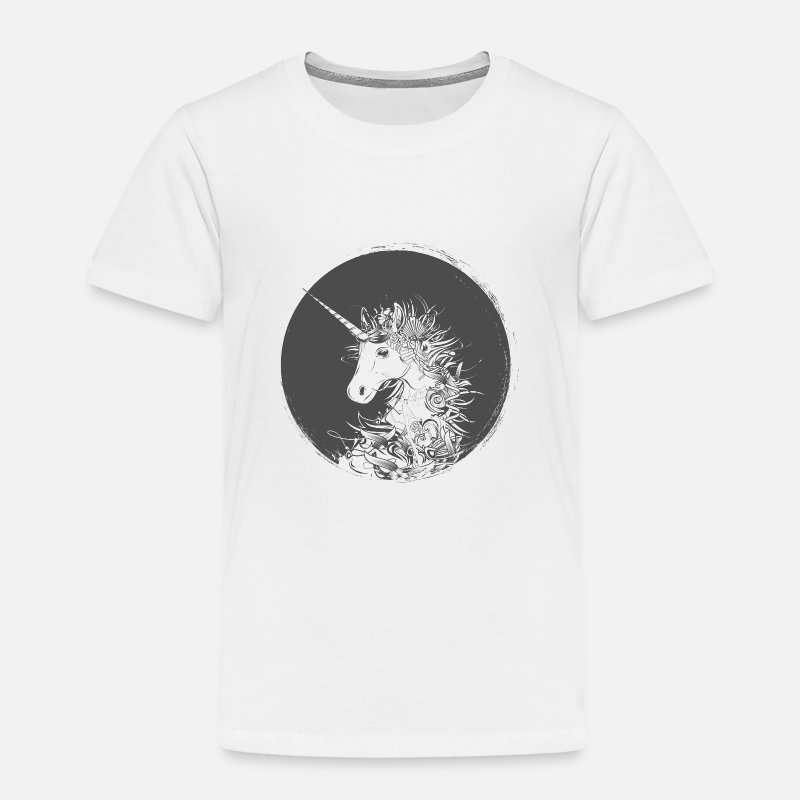 Collections Baby Clothing - Head of a unicorn - Toddler Premium T-Shirt white