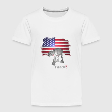 rebellion american flag luke dark side clone scifi - Toddler Premium T-Shirt