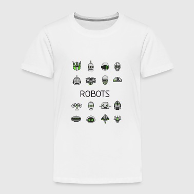 robots space man android nerd game comic men scifi - Toddler Premium T-Shirt