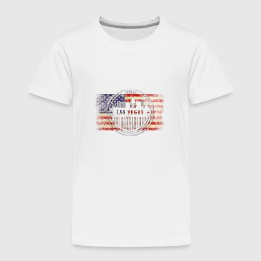 Las Vegas grunge skyline on USA flag - Toddler Premium T-Shirt