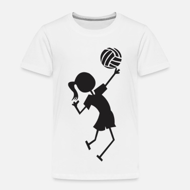 Volley Volley ball girl - Toddler Premium T-Shirt