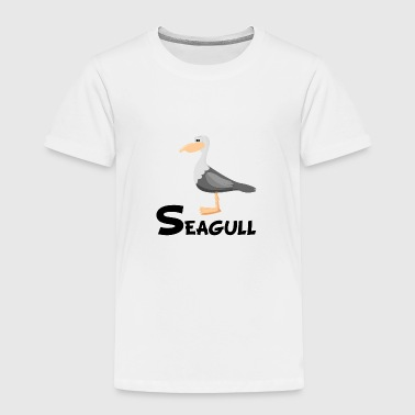 Cartoon Seagull - Toddler Premium T-Shirt